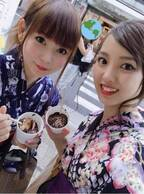 中川翔子、飯窪春菜と変装なしの浴衣デート「十数年ぶりかもしれない!」