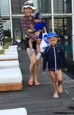 小原正子、家族旅行で台湾へ「やっぱり初日は」