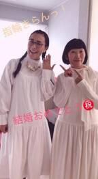 たんぽぽ川村、入籍した相方・白鳥と白ワンピースでの2ショットを公開「結婚したくなります」