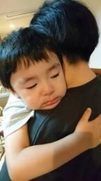 ロケ出発日に泣き出した息子 大島美幸も涙し「そりゃ、ずっといたいよ」