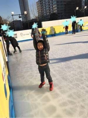 東尾理子、息子が「羽生君をやりたい」石田純一とスケート場へ