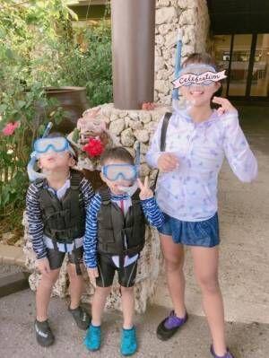 辻希美、家族で沖縄旅行を満喫「子ども達が楽しんでいる姿…最高です」