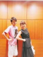 渡辺美奈代、次男・名月との2ショットに「イケメンでスタイルも抜群」の声