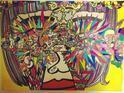 平野ノラ 新作の絵を公開、題名は「本気になったら全てがチャンスに見えてくる」