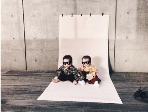 安田美沙子、息子の着物撮影会「女の子と並ぶとさらにかわいい」