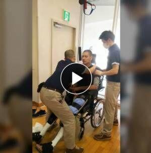 脊髄損傷の滝川英治、装具を使用して立つ動画公開「俺立ってるよ 信じられない」
