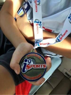 梨花、息子がバスケットの試合でメダル「母ちゃんもめっちゃ嬉しいー」