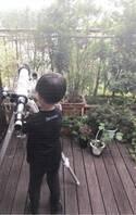 市川海老蔵、息子・勸玄くんの背中に「父と姿重なる、後ろ姿、です」