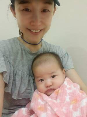 小原正子、予防接種を受けた娘の様子「すくすくと育っています」