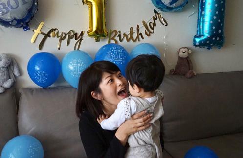 森麻季、息子が1歳の誕生日を迎える「幸せをくれてありがとう」