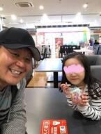 花田虎上、末娘とのデートショットを公開「メロメロですね」「あまあまになっちゃいますよね」の声