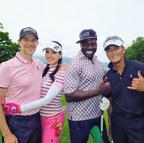 アンミカ、渡辺裕之らとゴルフで4ショット「紳士で、プロ並みの腕前」
