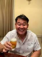 花田虎上、子ども達に好評な茶髪姿を公開「パパ若返ったぁ!」