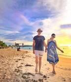 アンミカ、リゾートで活躍したH&Mのアイテムを紹介「旦那様とブルー系の服に着替えて」