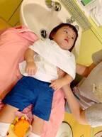 浜田ブリトニー、娘が美容室で嫌がったこと「この恐怖の表情ヤバイ 笑」