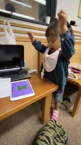 森渉、娘の喜ぶ姿を動画で公開「たくさんの感動をくれる娘に感謝です」
