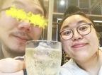 """ニッチェ・江上、夫との""""サシ飲み""""ショットを公開「幸せそ~」「微笑ましい」の声"""