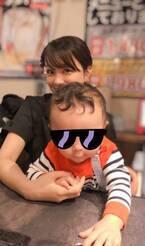 本田朋子アナ、息子と一緒に夫・五十嵐圭の試合を観戦「熱気に包まれていました」