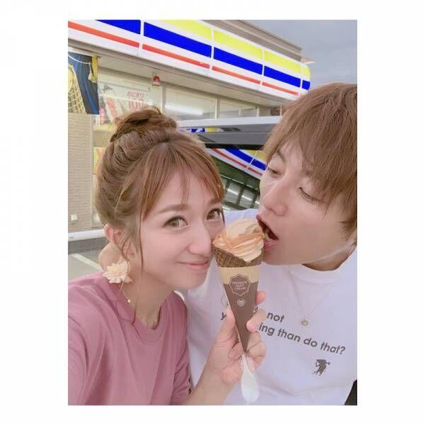 """辻希美&杉浦太陽、""""仲良しこよし""""の夫婦2ショットを公開「マロンソフトを食べました」"""