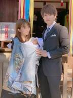 辻希美&杉浦太陽、三男のお宮参りショットを公開「健やかなる成長を祈って」