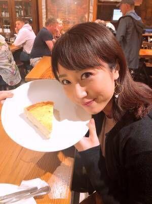 """川田裕美アナ、""""本場""""のスイーツ食べ感動「これは食べてみたい」「美味しそう」の声"""
