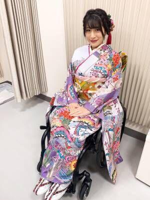 猪狩ともか、車椅子での華やか着物姿を公開「とても綺麗」「素敵です!」の声