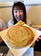 北斗晶、春休みのハワイ旅行でパンケーキにビックリ「デッカいーーーー」