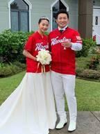 広島カープ・鈴木誠也、妻・畠山愛理とのハワイ挙式の様子を報告「温かく見守ってください」
