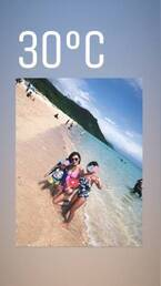 加護亜依、宮古島での水着ショットを公開「海がすごく綺麗!」