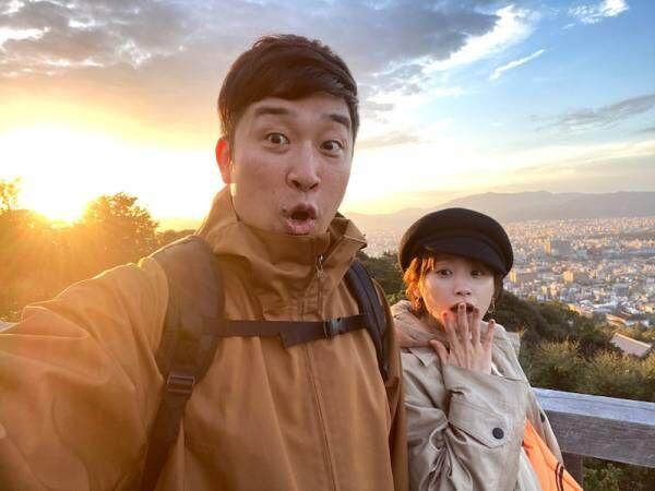 あべこうじ、妻・高橋愛と京都へ「紅葉を見に行こうよぅwww」