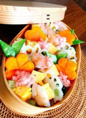 渡辺美奈代、息子2人に作ったちらし寿司を公開「お弁当箱を変えて」