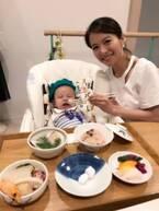 神戸蘭子、お食い初めの様子を公開「正直、やるか悩みました」