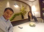 白城あやか、夫・中山秀征とフレンチレストランへ「贅沢な夜でした」