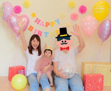 相沢まき、娘1歳の誕生日に自宅で撮影「手作り感満載でお祝いしました」