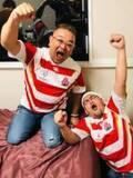 サンドウィッチマン、ラグビーW杯開幕戦をコンビで観戦「日本代表の皆さん、お疲れ様でした!」