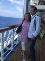 キャシー中島、夫と豪華客船の旅を満喫「熟年夫婦の船旅、結構いいものです」