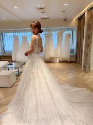 くみっきー、前撮り用のウエディングドレス姿を公開「とっても嬉しくなりました」