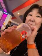 """川崎希、TDLの""""激レア""""なタピオカドリンクを紹介「すっごく大きめサイズ」"""