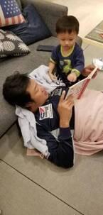 小原正子、夫・マック鈴木と息子の英会話練習の様子を公開「エンドレス!」