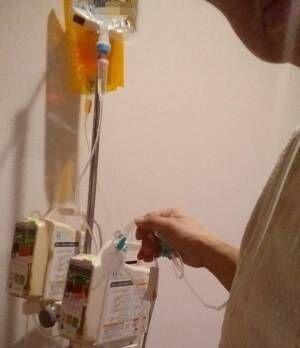 笠井アナ、抗がん剤治療が始まる「これから5日間繋がれたまま」