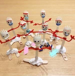 瀬戸朝香、子ども達が作った『トイ・ストーリー4』のキャラクター公開「100円ショップで材料を調達」