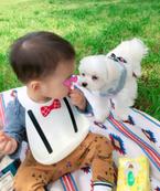 保田圭、息子と弁当を持って公園へ「楽しそう」「かわいい!」の声