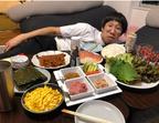 エハラマサヒロ、ひょっこりはんらと自宅で手巻き寿司パーティー「楽しゅうございました!!」