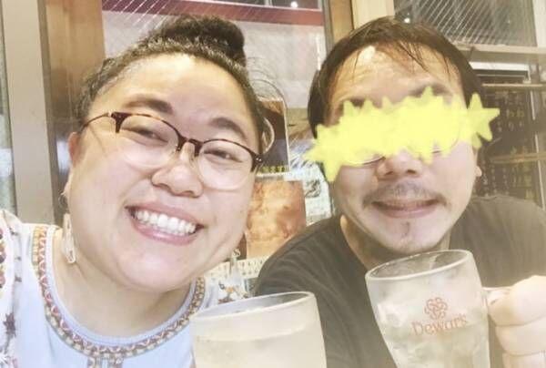 ニッチェ・江上、仕事終わりに夫婦で乾杯「暑い日のハイボール。。うまし」
