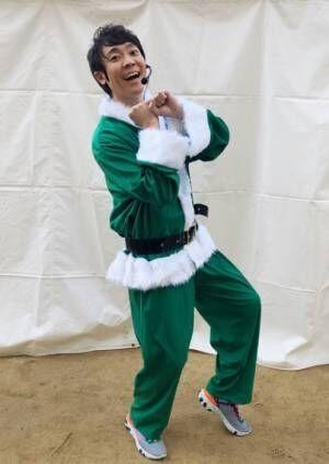 よしお兄さん、サンタ姿で子ども達とランニング「最高のイベントでした」