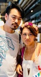 LiLiCo、夫婦で入れ歯をした写真を公開「照明が不気味に当たってるから余計に変」