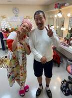 小川菜摘、サプライズで木村祐一が陣中見舞い「優しいお気遣いに感謝」
