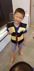 """小原正子、""""鬼太郎のちゃんちゃんこ""""を着た息子たちの姿に「激かわ」「懐かしい」の声"""