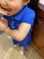 友利新、子ども達がインフルエンザワクチンを接種「おチビの為に頑張ってくれた」