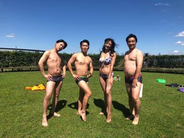 中島史恵、ジャンポケと水着姿を披露「皆様ありがとうございました!」
